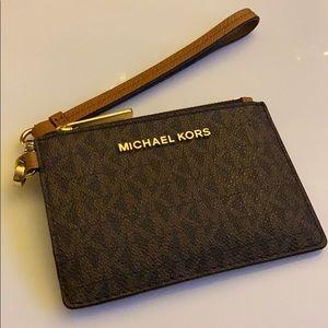 Michael Kors monogram card wallet